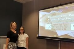 Hilerie Klein Rensi (owner of Higher Voices Studio) and Pamela Israel  (Unlock Your History)